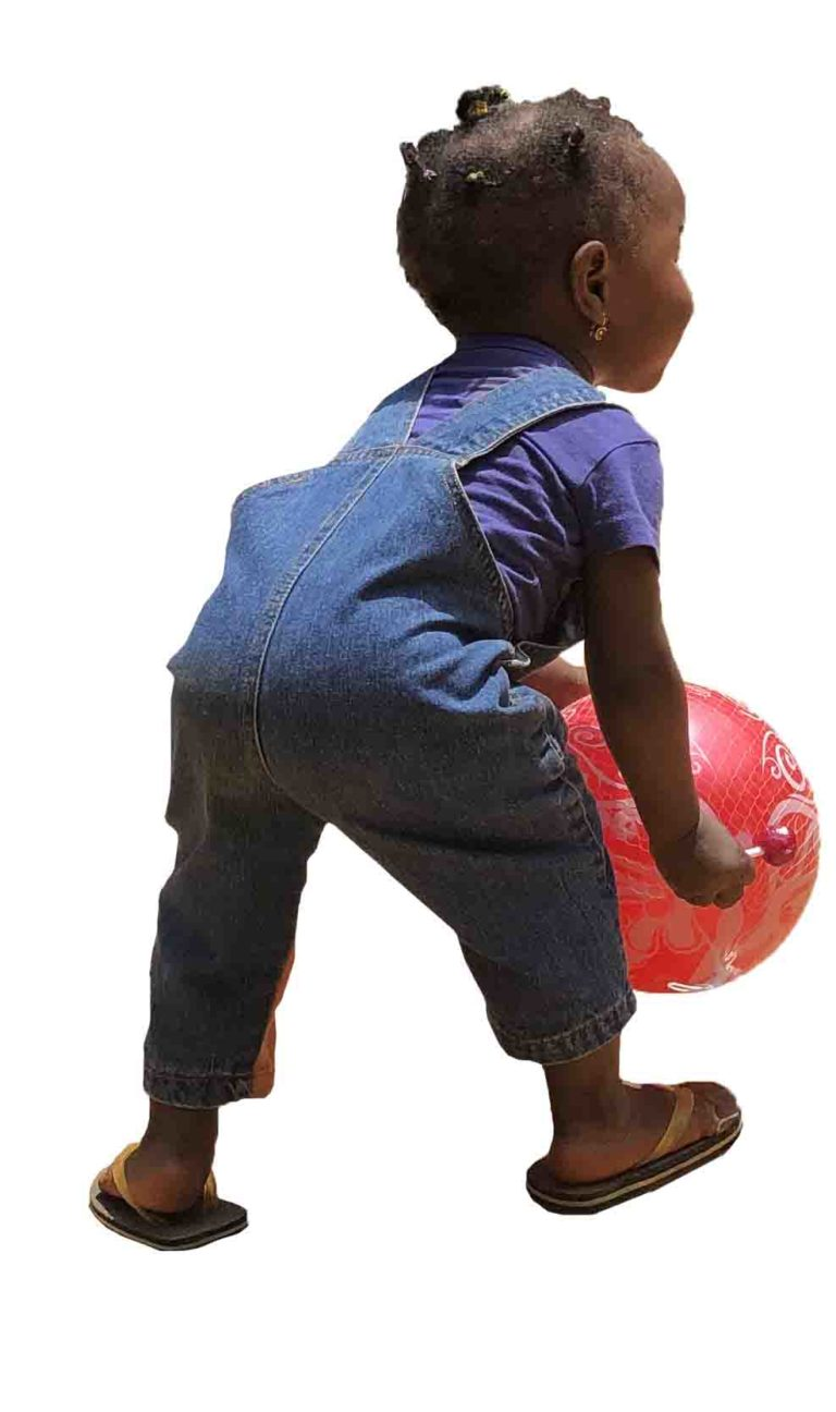 African little girl playing