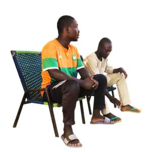 2 African Men Sitting on chairs