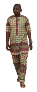 African Man in African Traditional Clothes